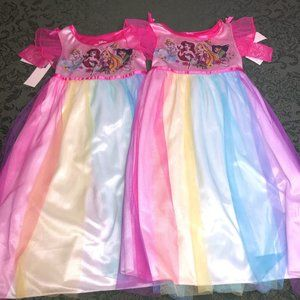NWT TWINS disney fantasy night gowns princess 3t 3
